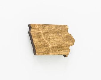 Iowa Magnet - Wooden Iowa State Magnet - Laser Cut IA State Magnet - IA Wooden State Magnet - State of Iowa Magnet - Iowa State Wood Magnet