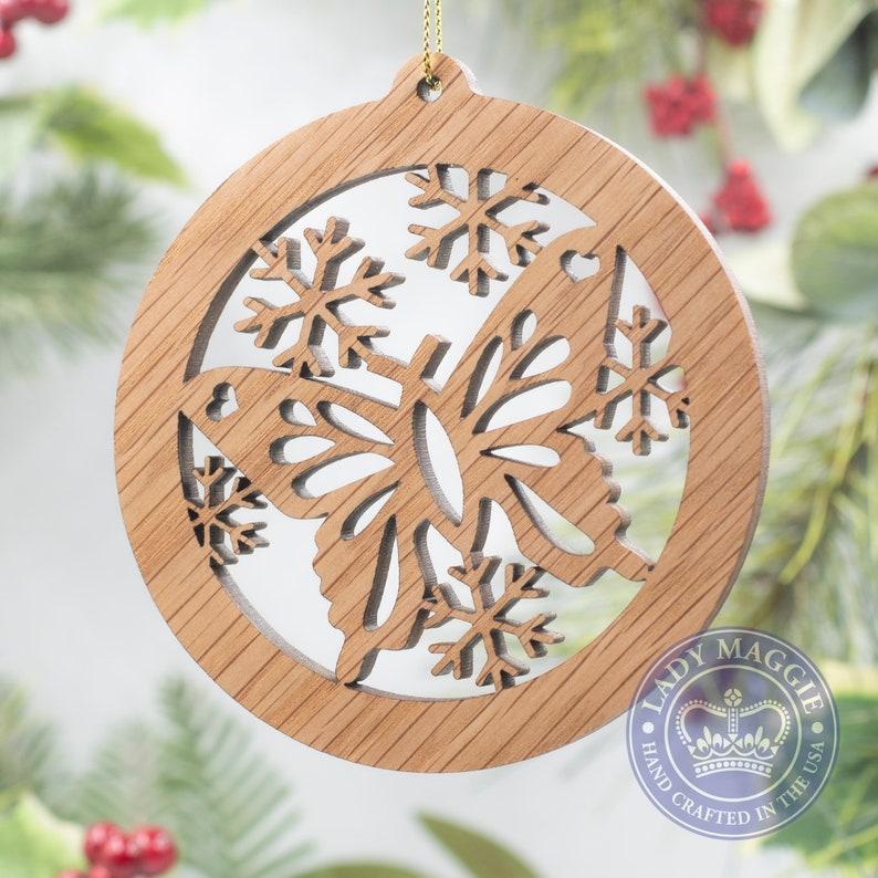 Butterfly Christmas Ornament  Butterfly Silhouette Laser Cut Standard ornament