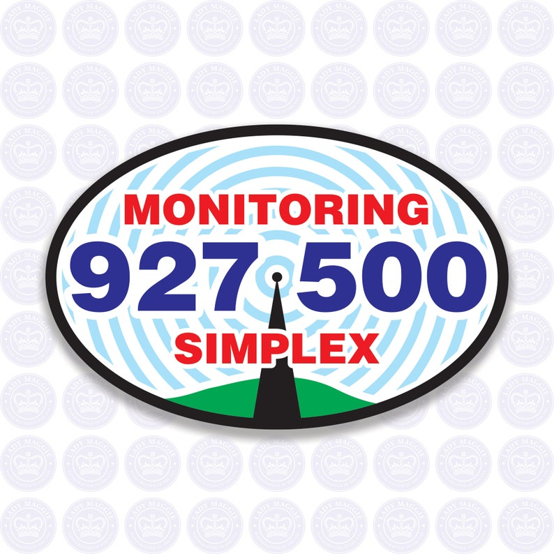 927.500  33cm Band  National Simplex Calling Frequency Decal image 0