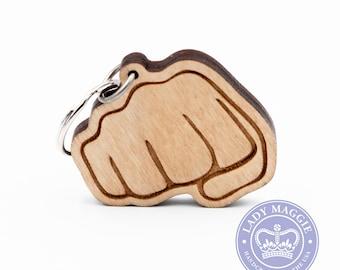Fist Bump Emoji Keychain - Oncoming Fist Emoji - Fisted Hand Sign Emoji - Bro Fist - Brofist - Fist Bump - Closed Fist Emoji - Punch Emoji