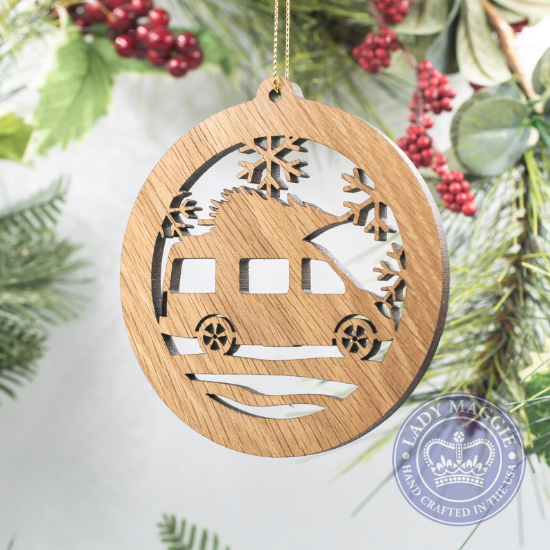 Camper Van  Class B RV Christmas Silhouette Ornament  Camper Standard Ornament