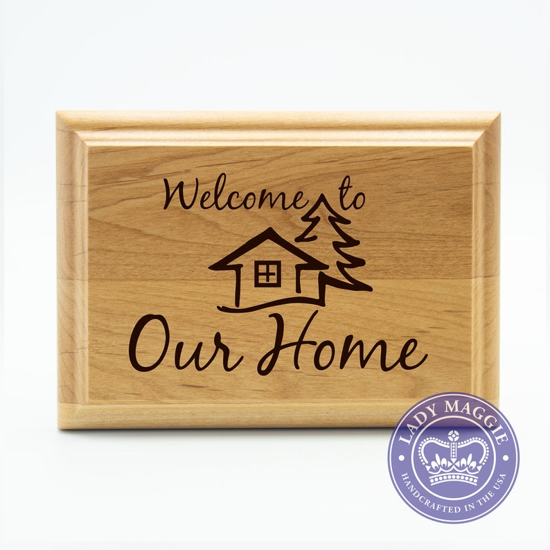 Welcome to Our Home Sign  Welcome Sign  Front Door Welcome image 0