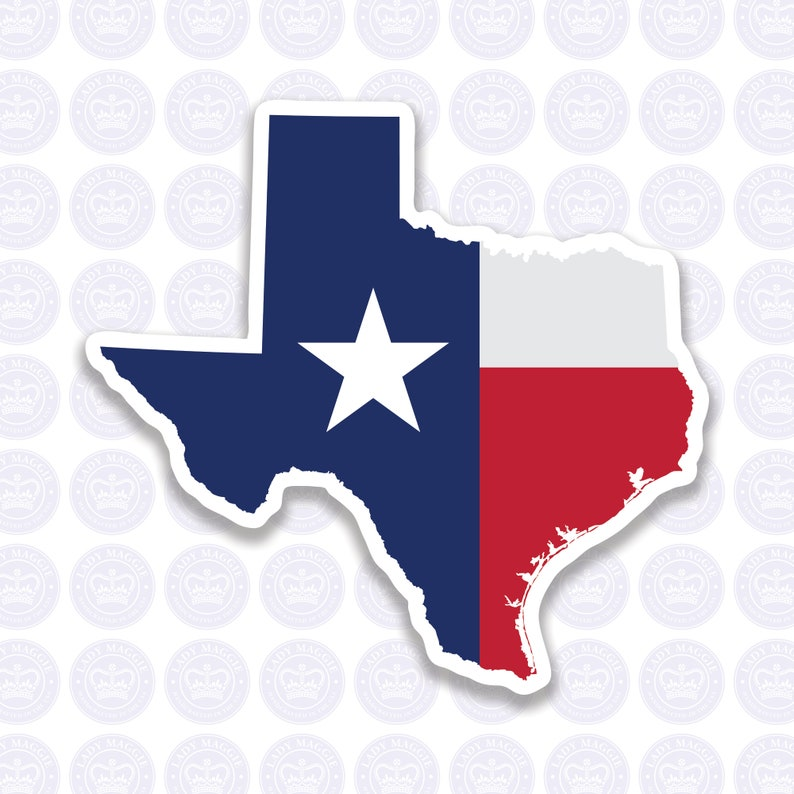 Texas Decal  TX State Flag Decal  Texas State Bumper Sticker image 0