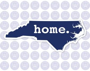 North Carolina Home Decal - Blue NC State Decal - North Carolina State Bumper Sticker - State of NC Decal - NC Blue Decal