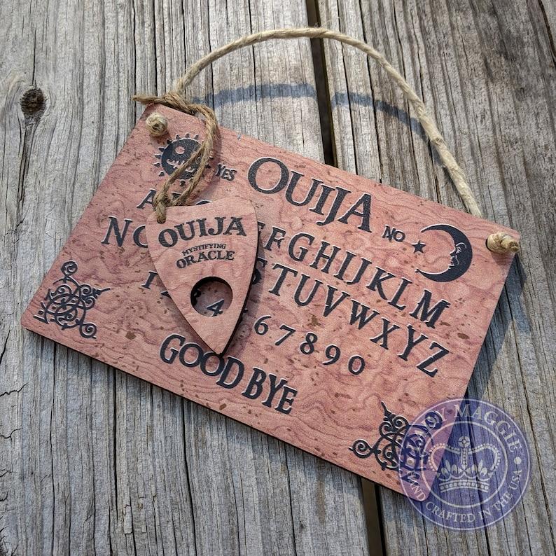 Ouija Board with Planchette  Mini Ouija Board  Travel Ouija image 0