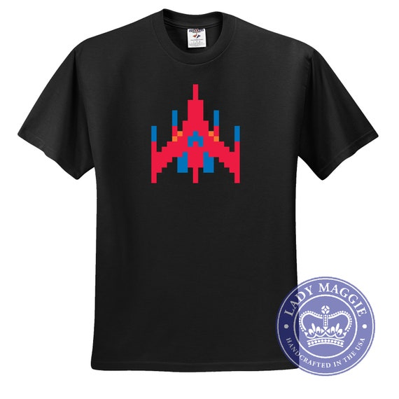 Galaga Space Ship T-shirt, 5 colours - S to 5XL