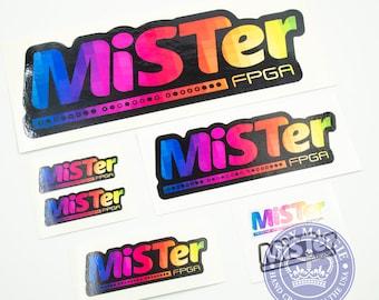 MiSTer Decal Multipack - Gamer Decal - Classic Arcade Game Sticker - MiSTer FPGA Gamer Laptop Decal - Gamer Bumper Sticker