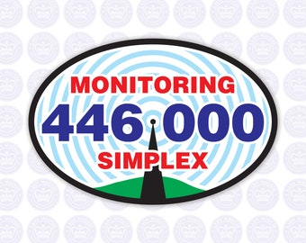 446.000 - 70cm National Simplex Calling Frequency Decal - Amateur Radio Oval Decal / Sticker - Radio Ham