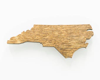 North Carolina Magnet - State of North Carolina Magnet - Wood North Carolina Laser Cut Magnet - Wooden Engraved NC Magnet - NC State Magnet