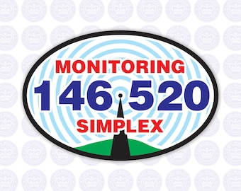 146.520 - 2m National Simplex Calling Frequency Decal - Amateur Radio Oval Decal / Sticker - Radio Ham