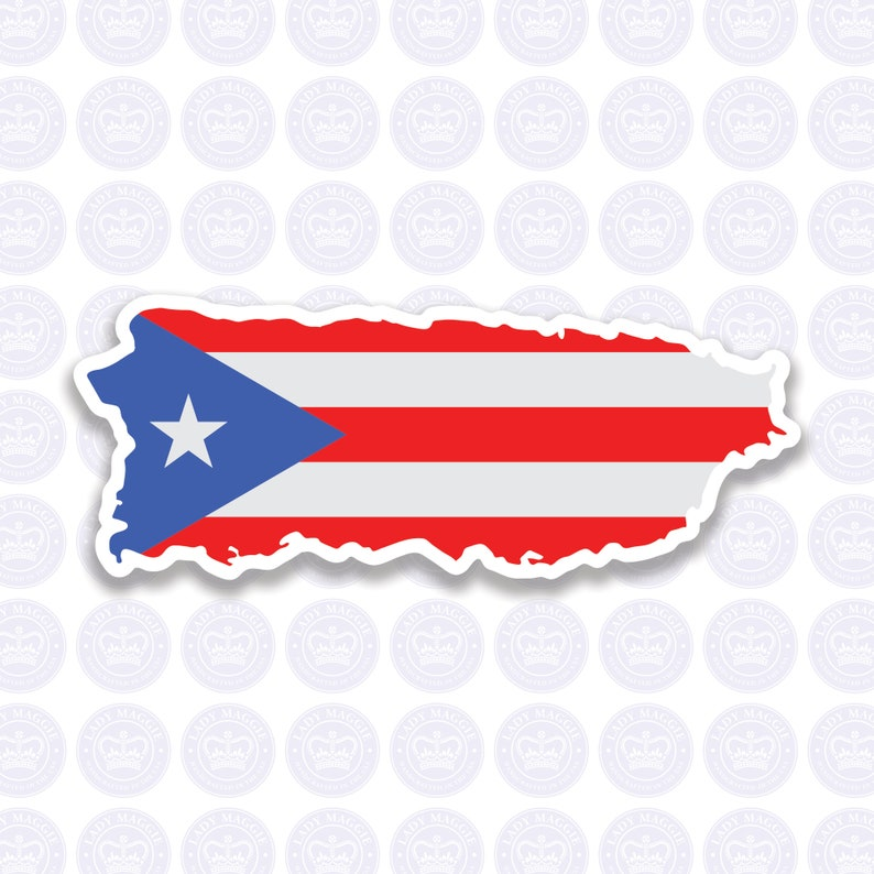Puerto Rico Decal  Puerto Rican Flag Decal  Commonwealth of Large