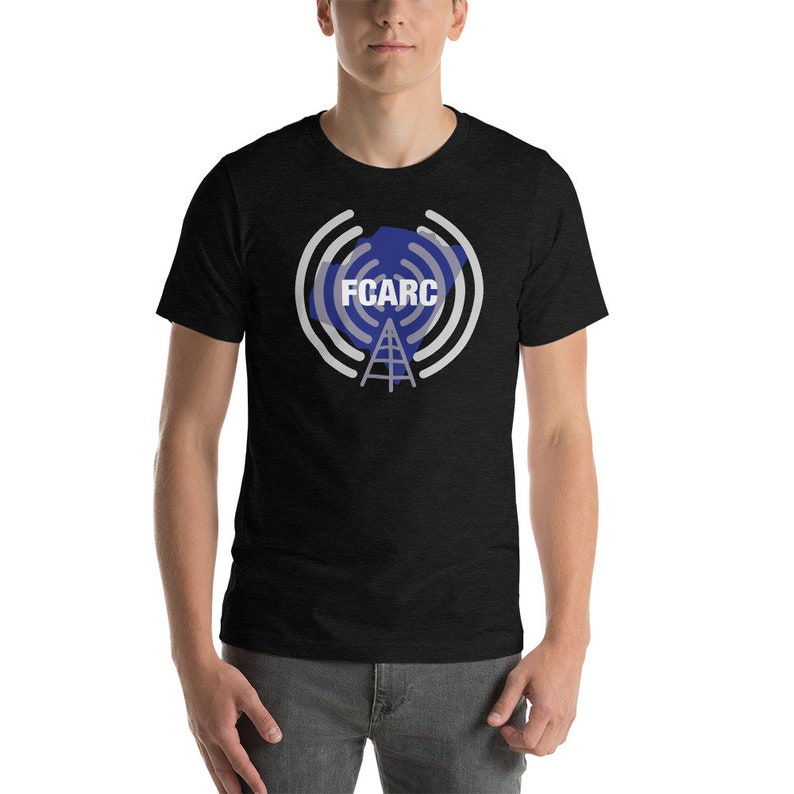 FCARC T-Shirt Personalized with Call Sign  Franklin County Black Heather