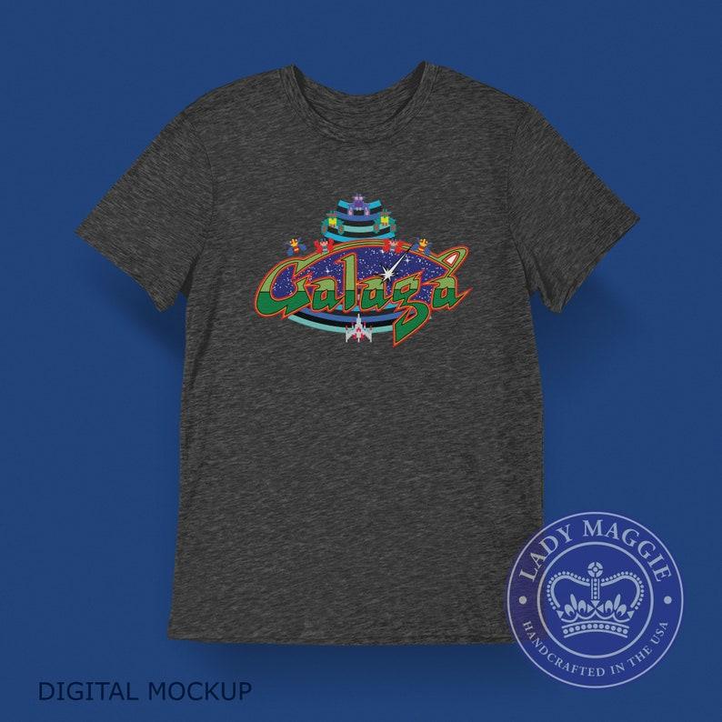 Galaga Arcade Game T-Shirt  Galaga Classic Arcade Game Video image 0
