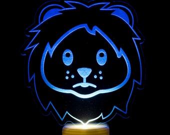 Lion Emoji Night Light - Lion Face Emoji LED Nightlight - Cute Lion Emoji Light - Lion Head Emoji - Lion Nightlight - Timid Lion Emoji Light