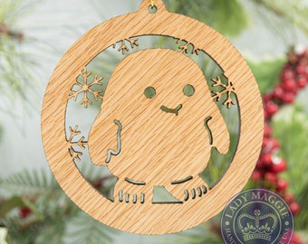 Doctor Who Adipose Christmas Ornament Wooden Tree Decoration - Doctor Who Adipose Laser Cut Carved Ornament - Dr Who Adipose Ornament