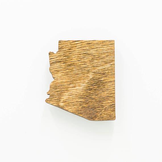 Arizona en bois aimant - Magnet État AZ - Arizona en bois Laser Cut aimant - AZ bois charme - Arizona State aimant