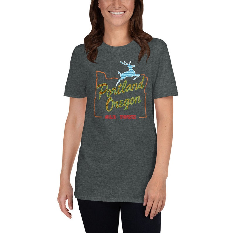 Portland Oregon Old Town t-shirt  Old Town Portland OR Shirt Dark Heather