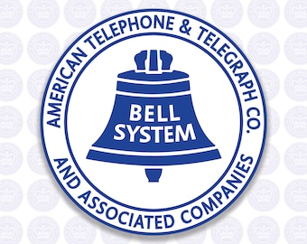 Bell System Vintage Logo Bumper Sticker - American Telephone & Telegraph Co and Associated Companies Bell System Vintage Logo Decal ATT