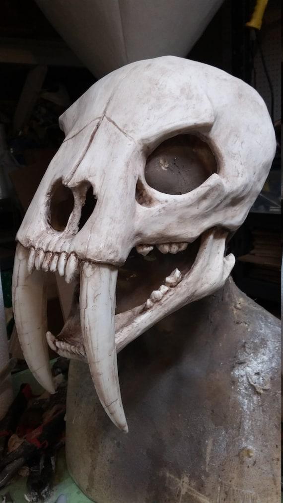 Sabertooth cat skull mask | Etsy Oarfish Skull