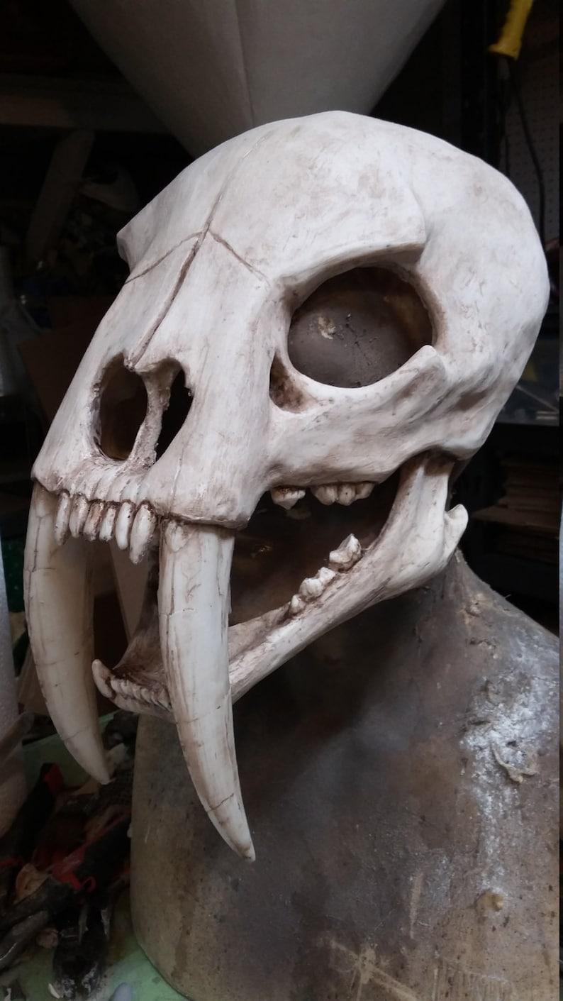 f0207c27c Sabertooth cat skull mask | Etsy