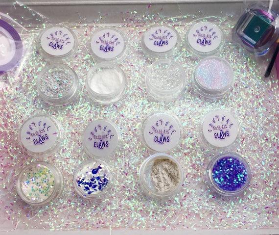 Nail Art Kit Glitter Mix Nail Art Pigment Pixel Glitter 3d Etsy
