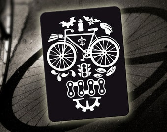 Bicycle Decal-Reflective Sticker for your bike - Bike Skull - Bicycle reflector accessory for spokes,frame,helmet,water bottle-