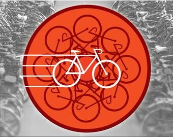 Bicycle Decal-Reflective Sticker Bikes Whirl accessories Reflector heijastin reflekterende klistermærker pattern