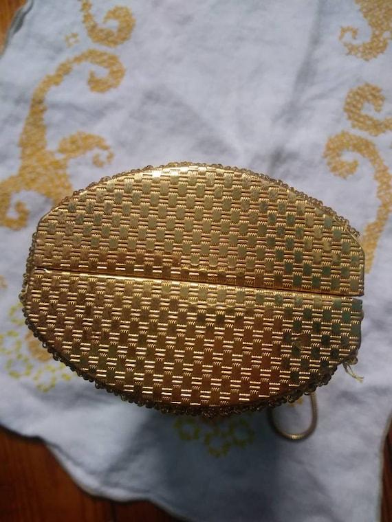 Vintage Beaded Hard Case Bag 50s 60s - image 3