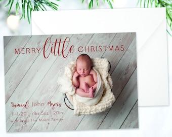 MinimalCaligraphy Holiday Card 5x7