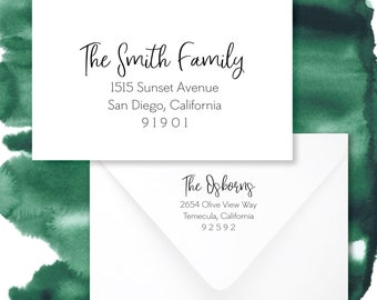 Holiday Card Mailing List Address Printing | Digital Caligraphy