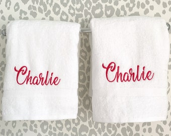 Monogram Bath Towel / Graduation Gift / Wedding Gift