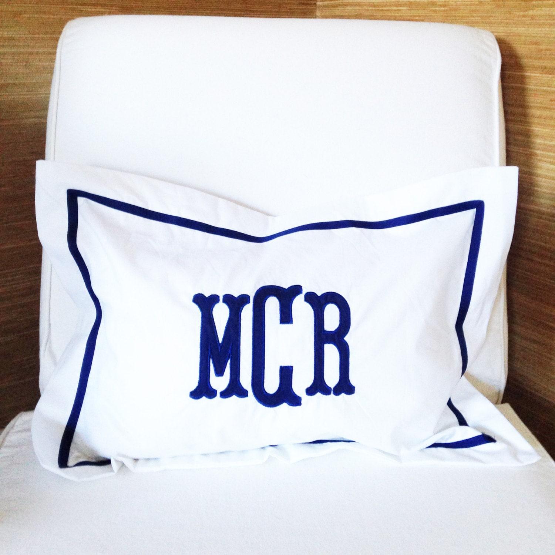 Monogram Applique Boudoir Pillow Baby Pillow Sham