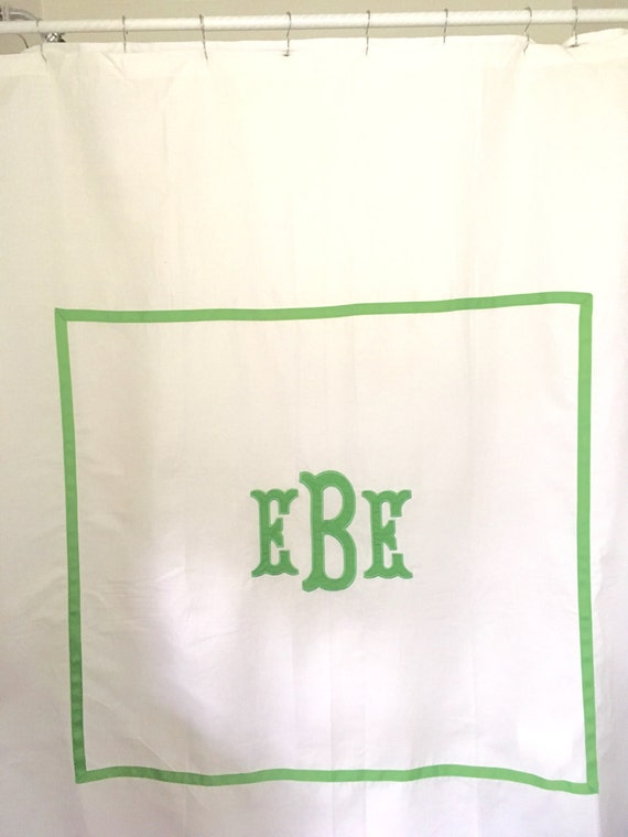 Monogram Applique Shower Curtain Bath