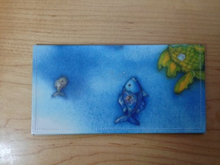 Checkbook Cover - Rainbow Fish - Sharing is Caring - Children's Book Accessories