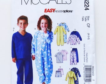 ccecd69cc0 NEW UNCUT!! McCall s Childs Sleepwear M6224 size 4-5-6