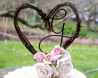 Custom Vine Letter Cake Topper For Wedding Reception