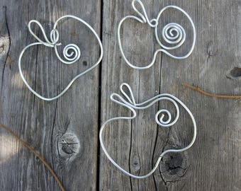 Farm Country Kitchen Decor Apple Wire Shapes For Wall, 3pcs
