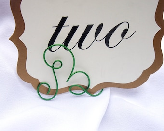 Letter Holders For Place Cards Or Small Table Numbers, 10pcs