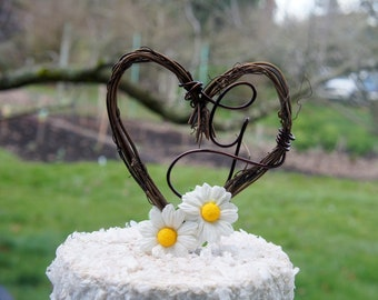 Daisy Vine Letter Cake Topper For Wedding Reception