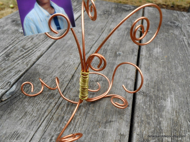 Nursing Home Residents Copper Brass Wire Picture Tree Great For Grandparents Gift Senior Citizens