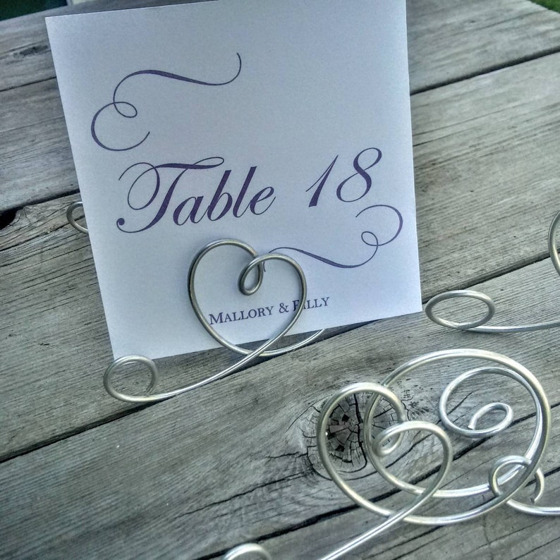 Wire Wedding Number Holders For Signs /& Table Names Set of 6