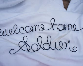 Welcome Home Soldier Sign For Veteran Returning Back From Service