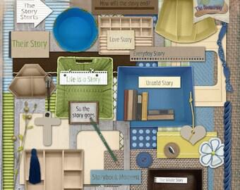 Digital Scrapbooking Story Crate Kit