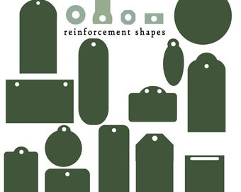 Digital Scrapbooking Designer Tool (Commercial Use) - Tag Shapes with Inspiration