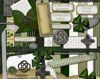 Digital Scrapbooking Irish Heritage Kit