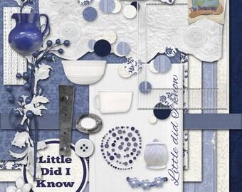 Digital Scrapbooking Kit - Little Did I Know