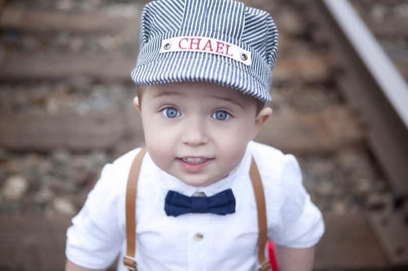 24b2982295da2 Personalized Train Hat Engineer Hat Conductor Hat Kids Hat