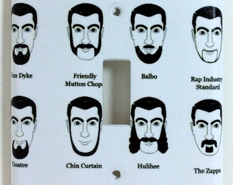 Beard Types and Styles Single Light Switch Plate Cover