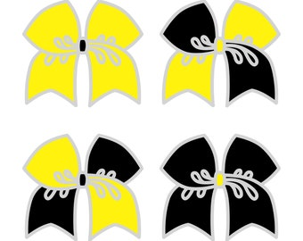 Large Yellow/Black Cheer Bow ***PRE-ORDER***