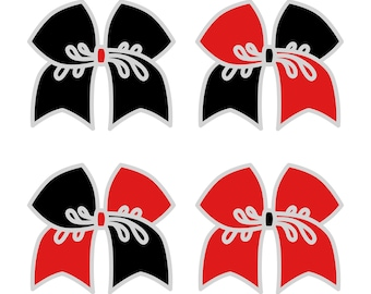 Large Black/Red Cheer Bow ***PRE-ORDER***